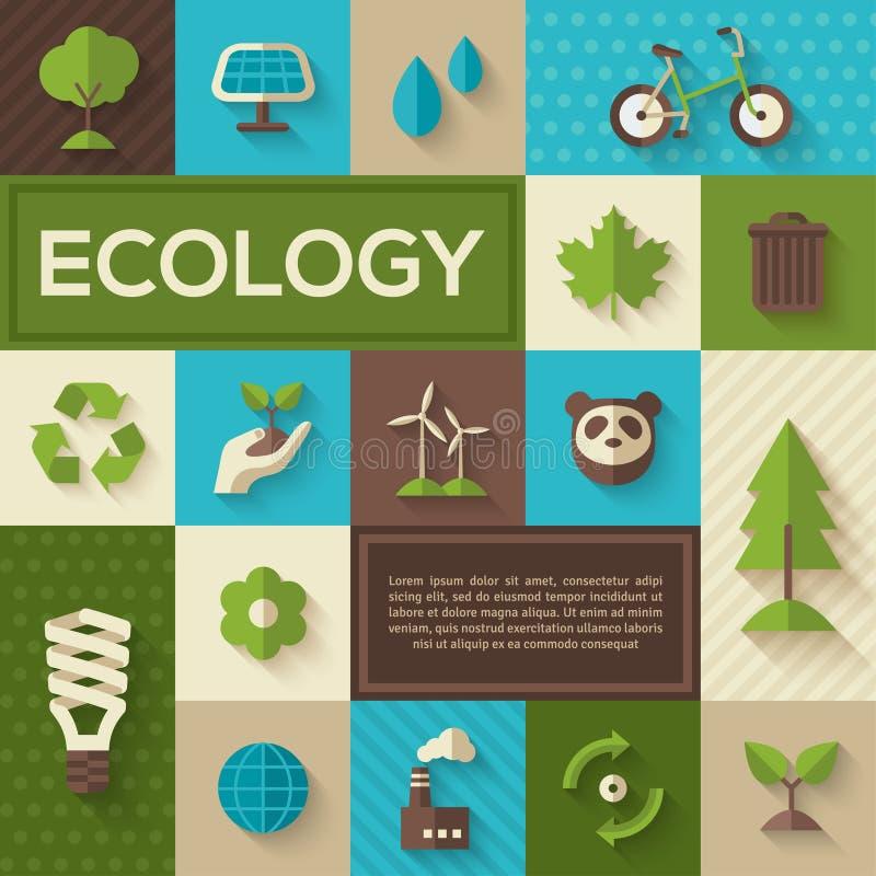 生态平的概念象  库存例证