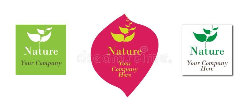 生态徽标本质 库存例证