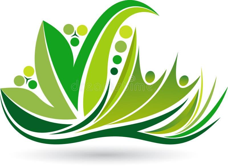 生态思考的商标 向量例证
