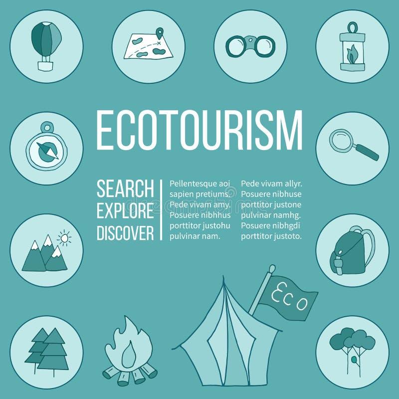 生态旅游飞行物,海报 也corel凹道例证向量 向量例证