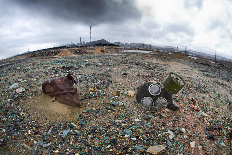 生态污染 免版税库存照片