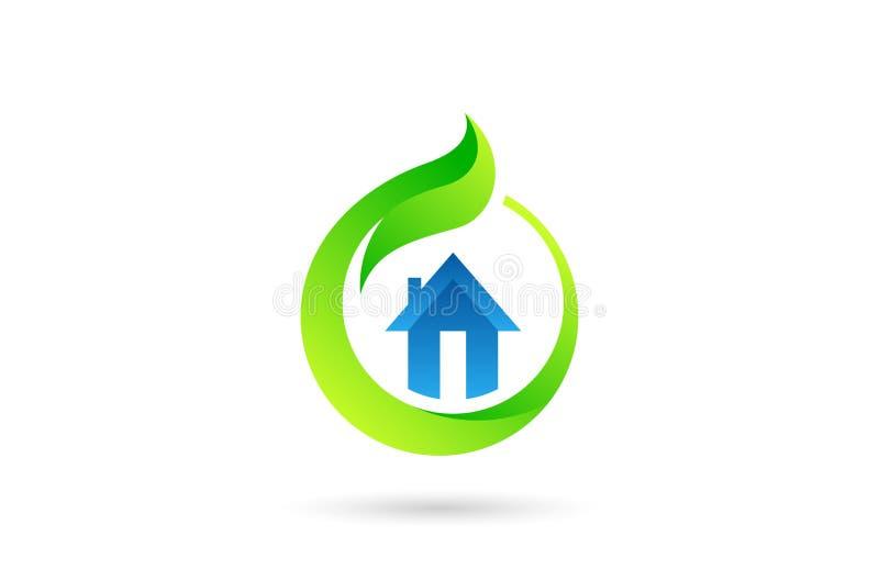 生态温室商标 库存图片