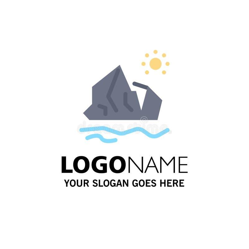 生态,环境,冰,冰山,熔化的企业商标模板 o 皇族释放例证