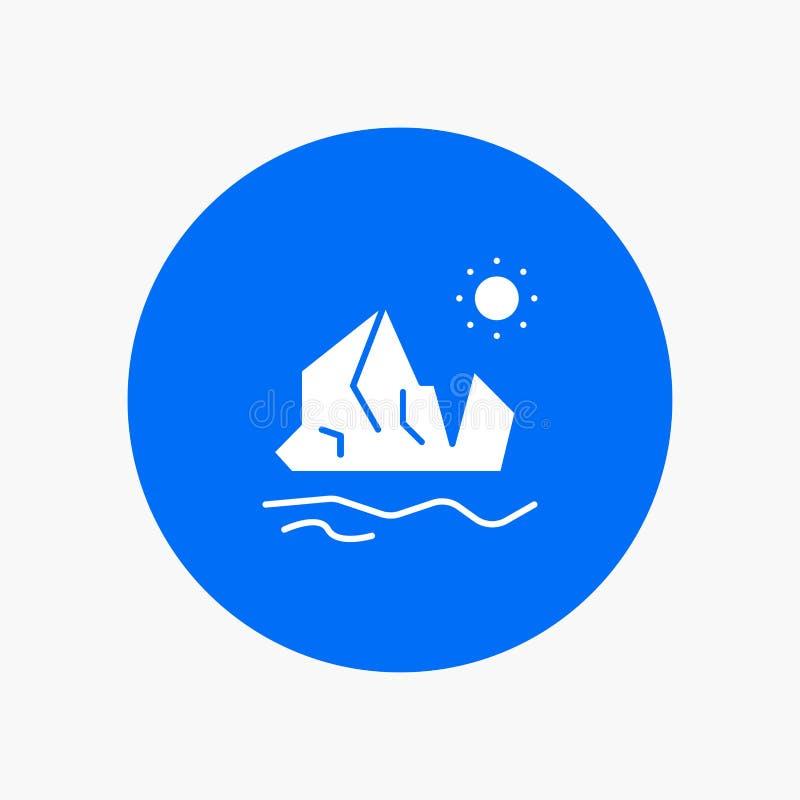 生态,环境,冰,冰山,熔化 向量例证