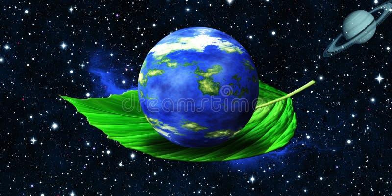 生态绿色行星 皇族释放例证
