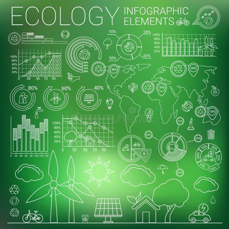 生态Infographic元素 皇族释放例证