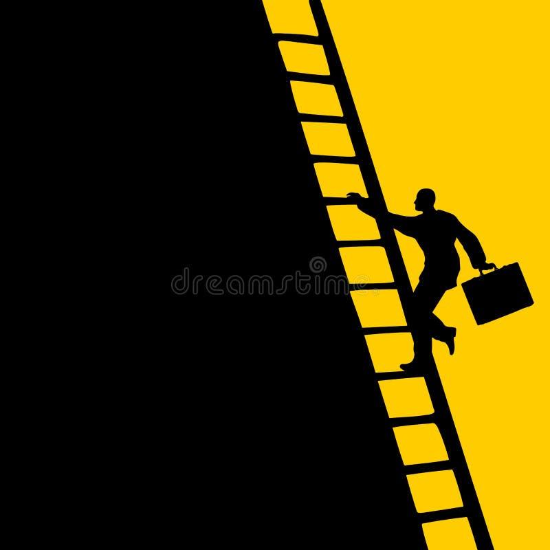 生意人上升的梯子 皇族释放例证