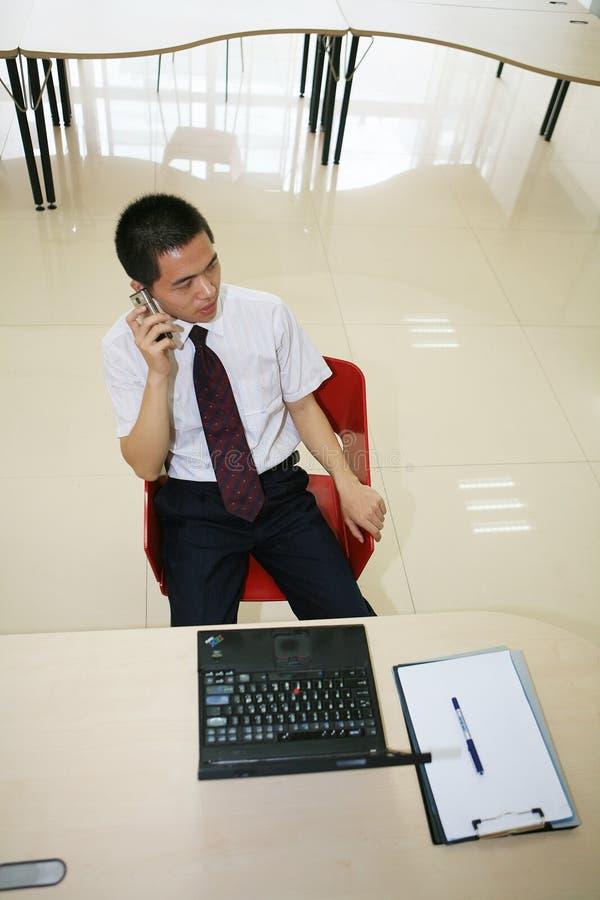 生意人他的办公室年轻人 库存图片