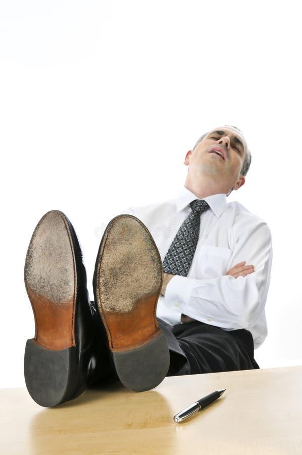 生意人休眠 免版税图库摄影