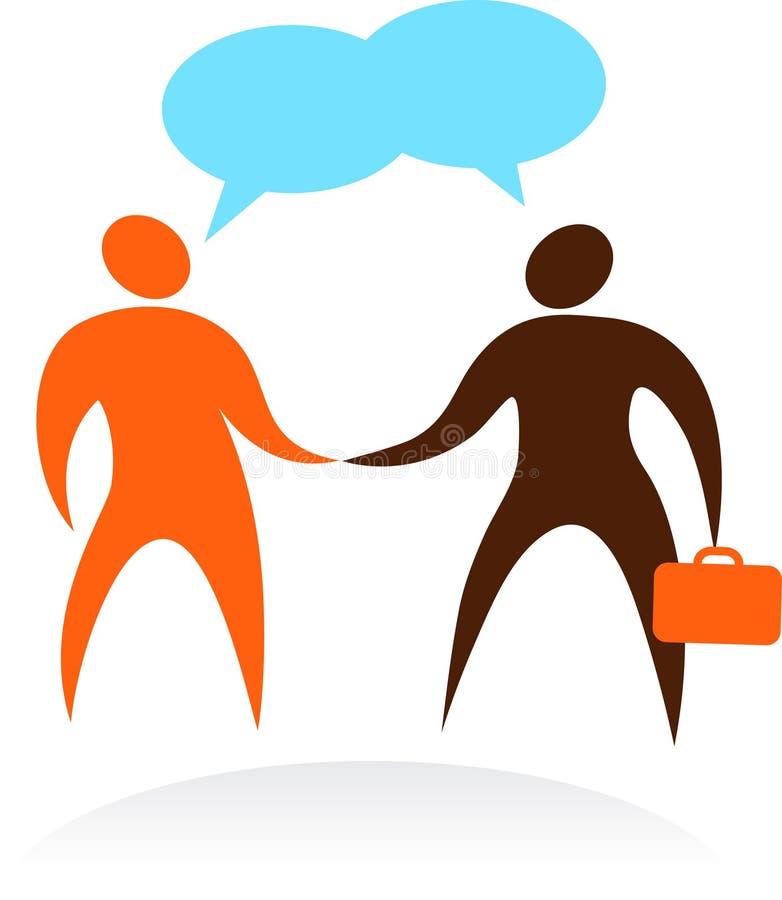 生意人会议-徽标和图标 库存例证