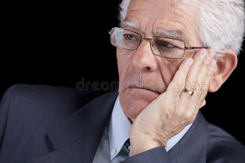 生意人前辈认为 免版税库存图片