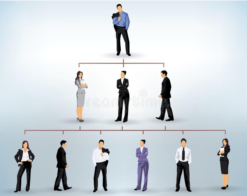 生意人剪影 向量例证