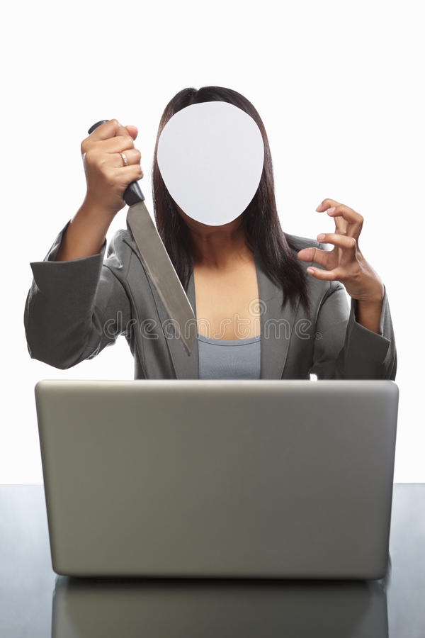 生意人匿名的膝上型计算机 免版税图库摄影