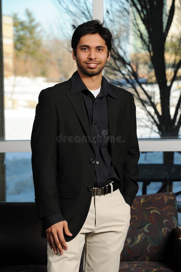 生意人印第安年轻人 免版税库存照片