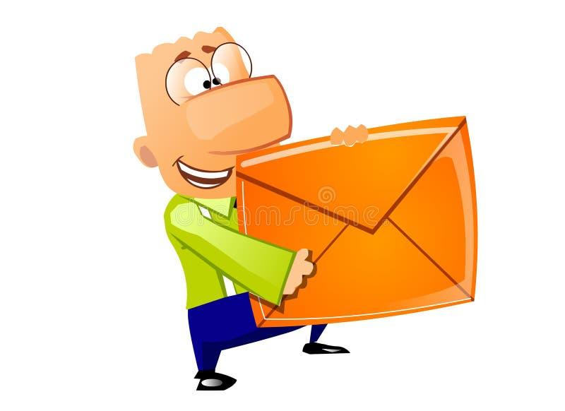 生意人发运邮件 皇族释放例证