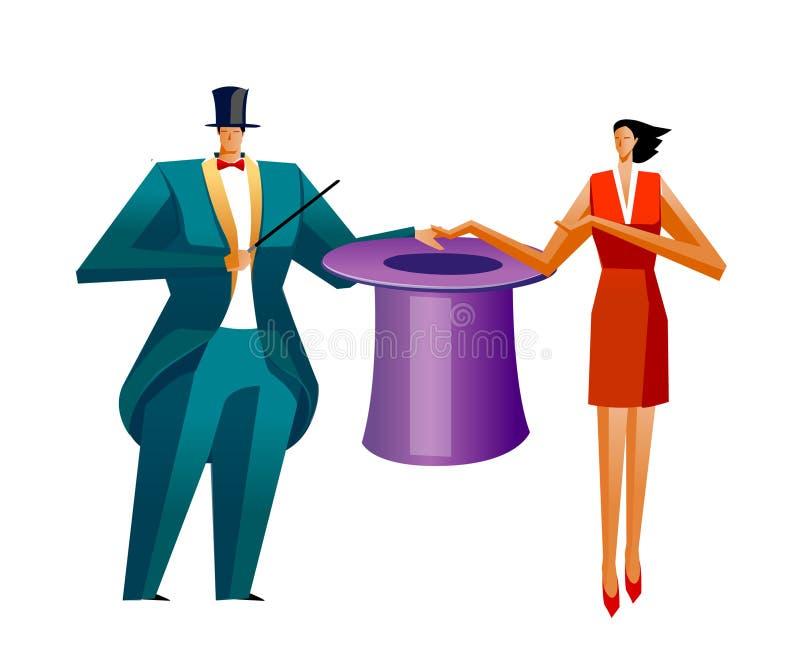 生意人和女实业家 库存例证