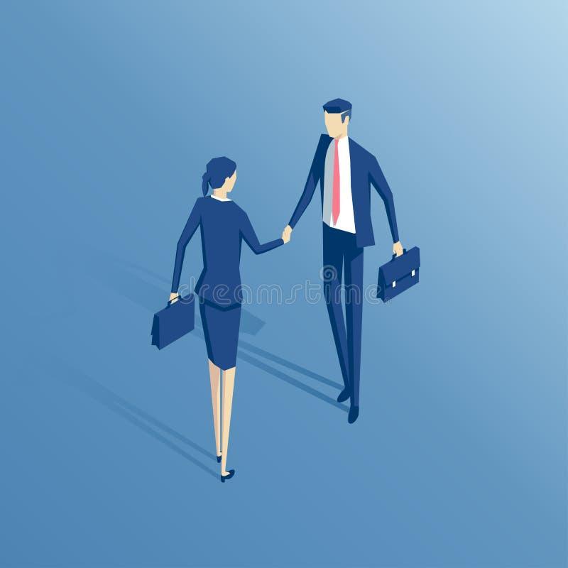 生意人和女实业家 向量例证