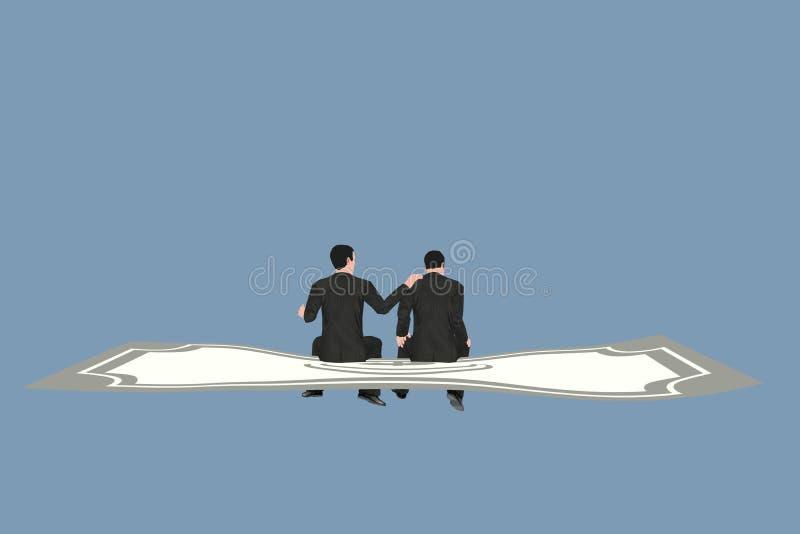生意人和货币 免版税库存图片