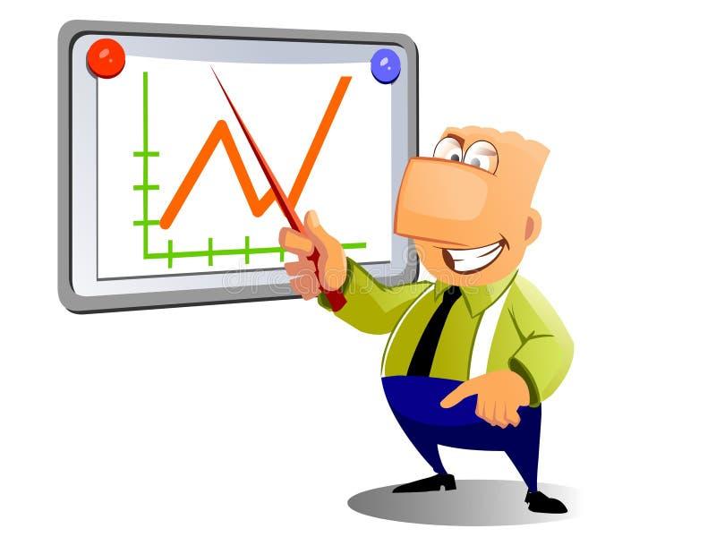 生意人图形陈列 向量例证