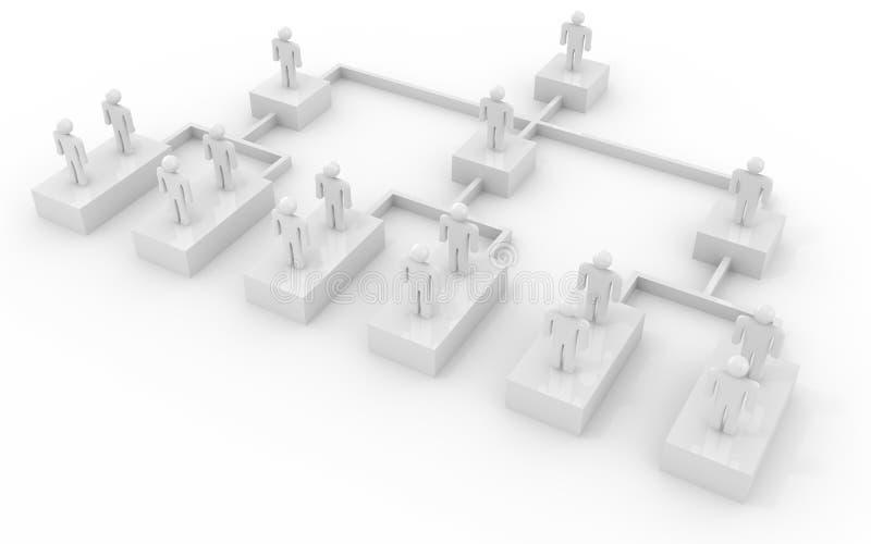 生意人图表组织 向量例证