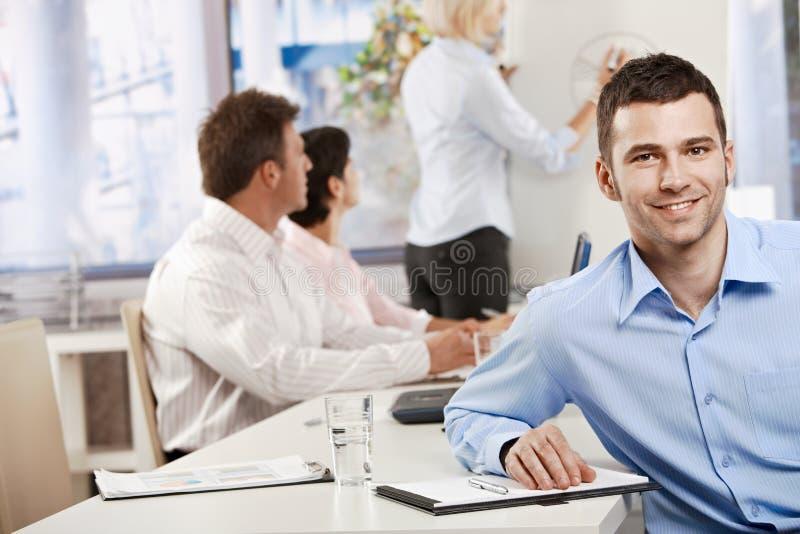 生意人在会议室 库存图片