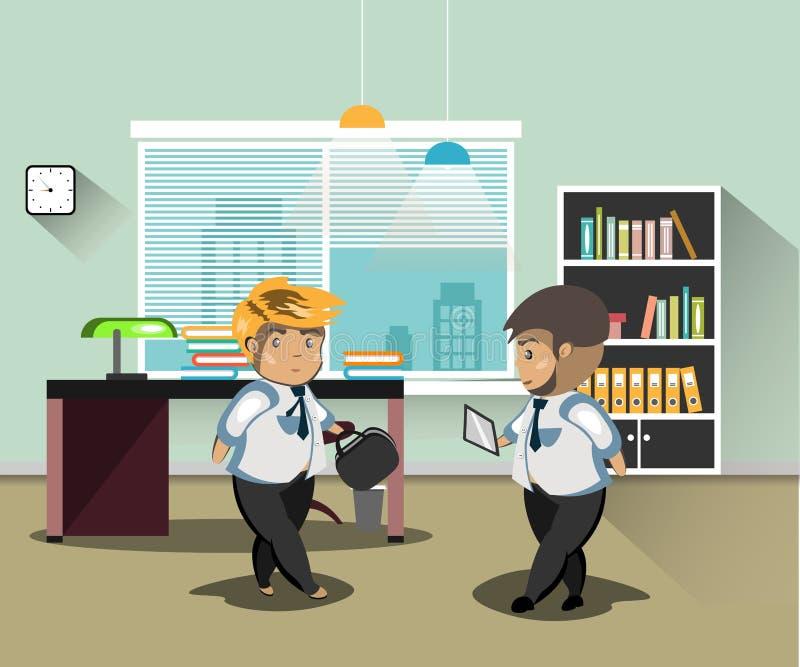 生意人在办公室 在办公室供以人员工作 也corel凹道例证向量图片