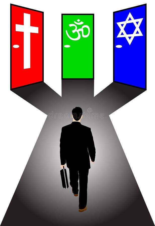 生意人官员宗教信仰 向量例证