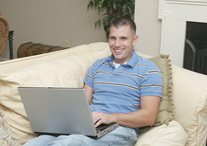 生意人家庭工作 免版税库存照片