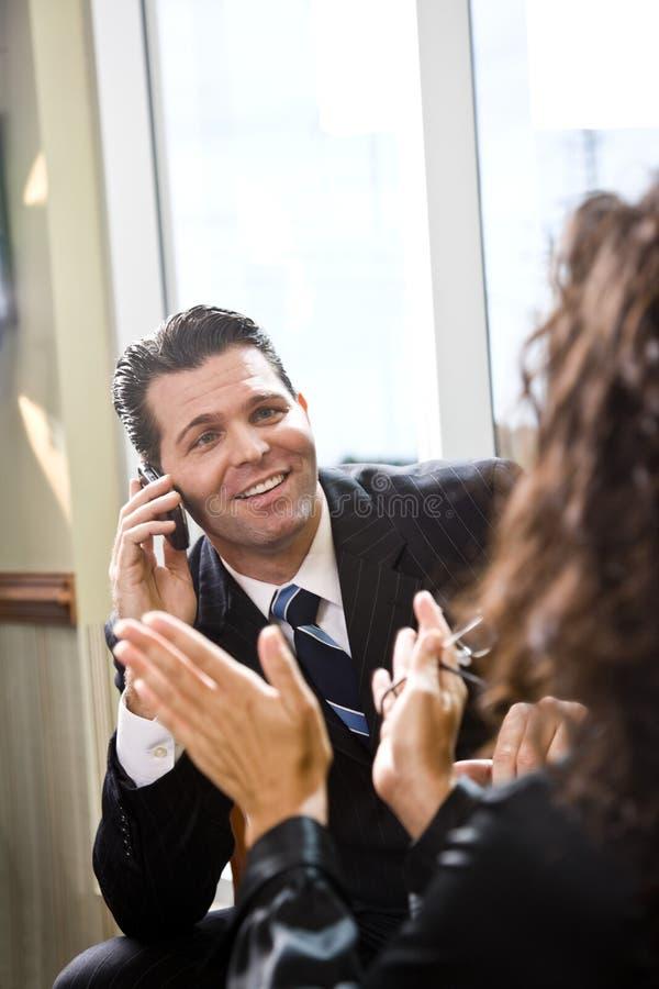生意人工友女性西班牙联系 免版税库存图片