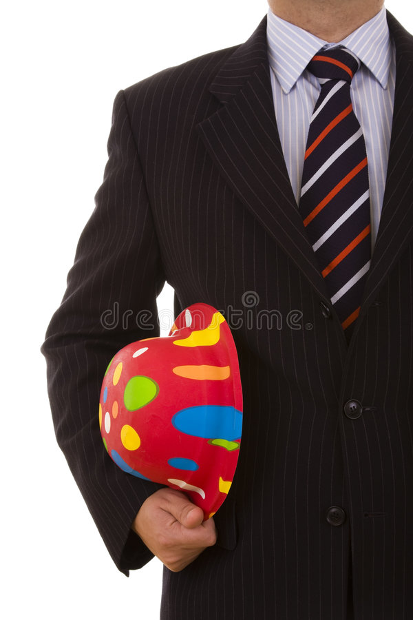 生意人帽子新年度 免版税图库摄影