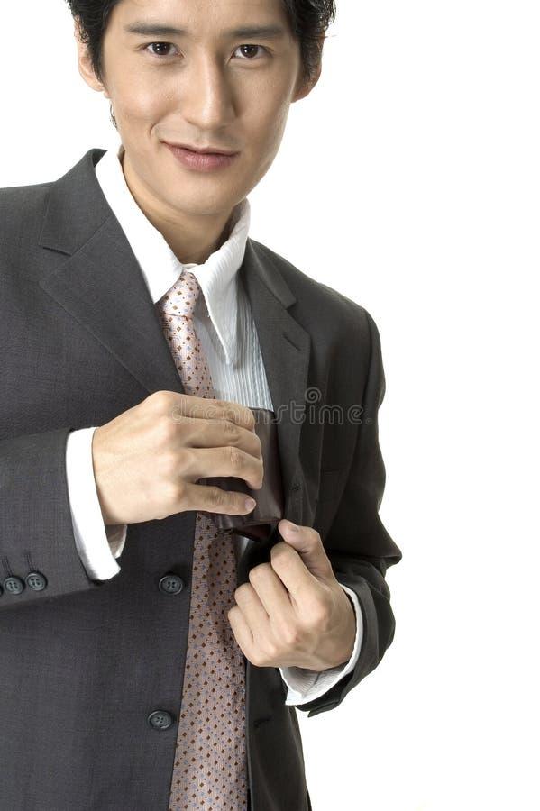 生意人微笑 免版税库存图片