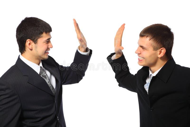 生意人愉快的二个年轻人 免版税图库摄影