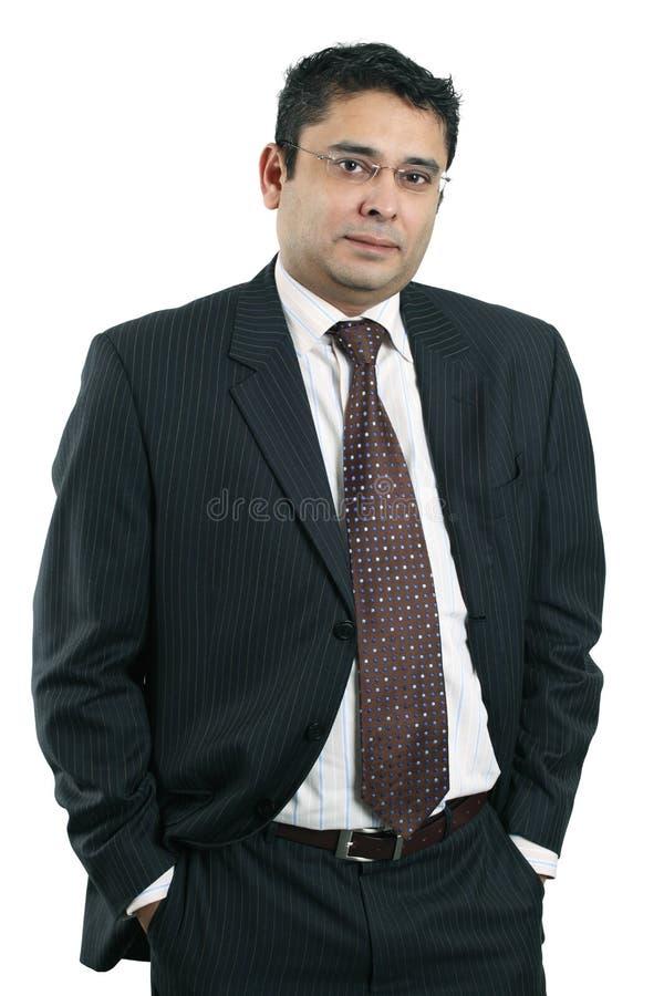 生意人愉快的印地安人 免版税库存图片