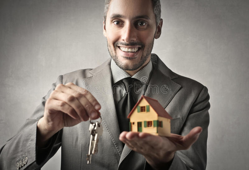 生意人房屋销售 图库摄影