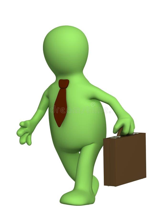 生意人投资组合木偶关系 向量例证