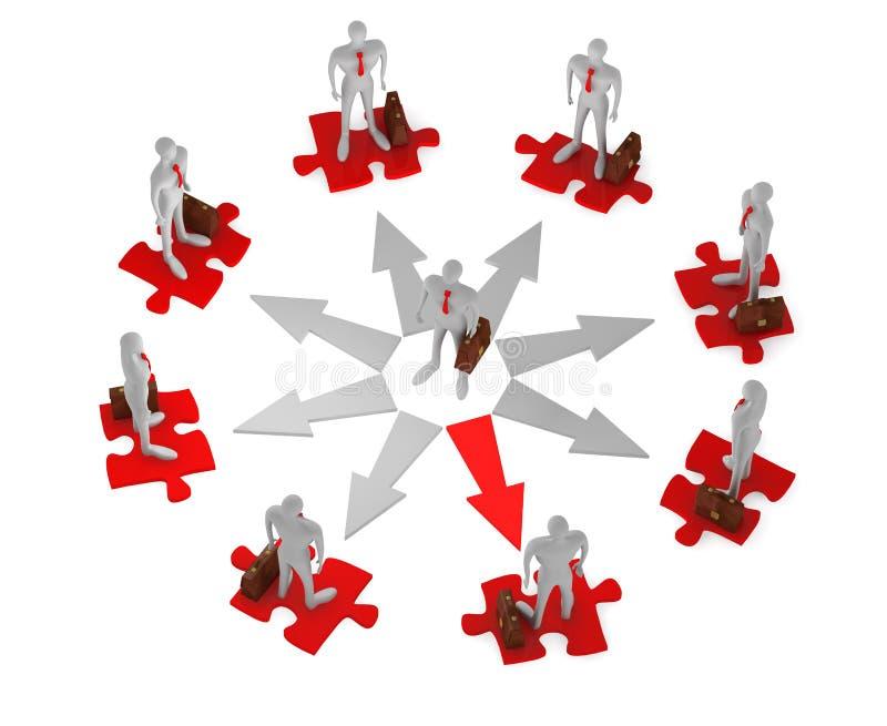 生意人挑选人员包围 库存例证