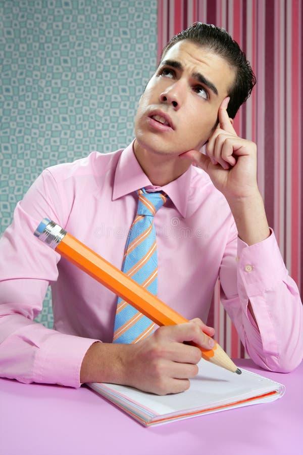 生意人教育隐喻学员年轻人 免版税库存照片