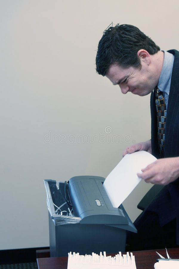 生意人文件切细 库存图片