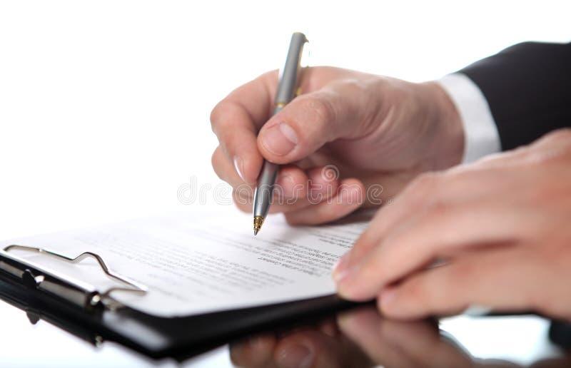生意人文件 免版税库存图片