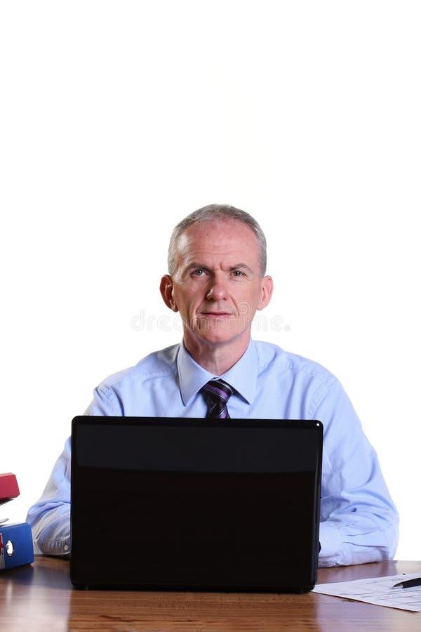 生意人服务台体验他的 库存图片