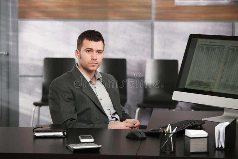 生意人服务台 图库摄影