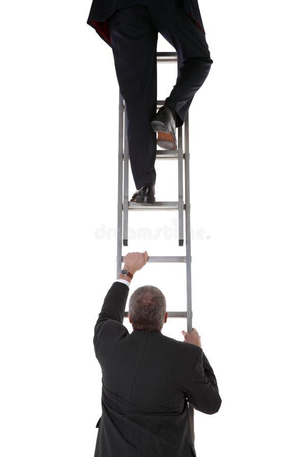 生意人梯子二 免版税库存图片