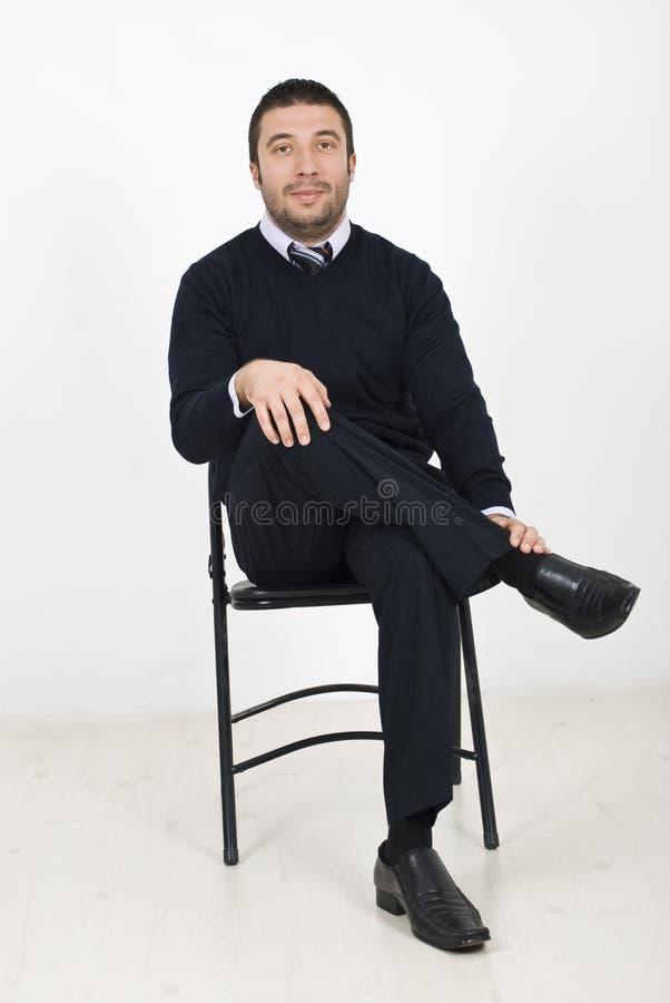 生意人椅子开会 库存图片