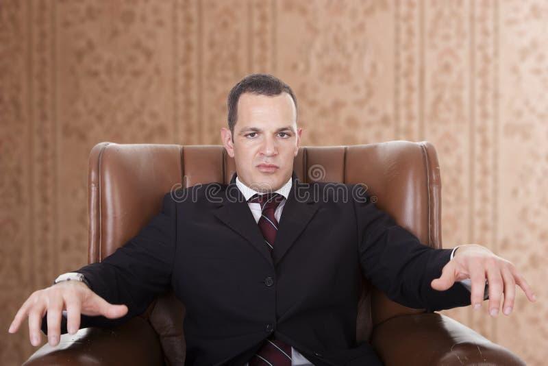 生意人椅子 库存图片