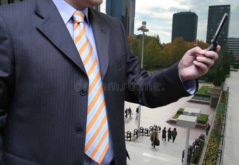 生意人消息发送 图库摄影