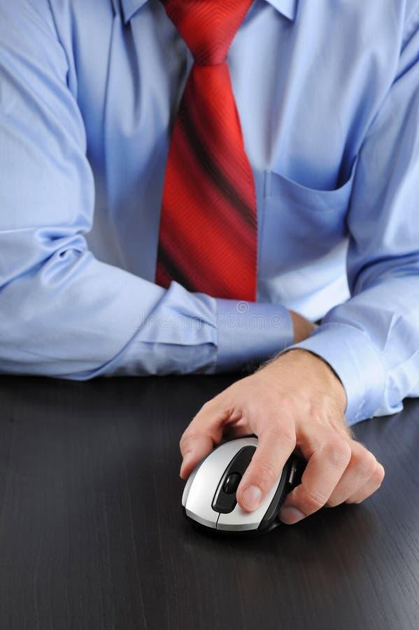 生意人现有量鼠标 免版税库存图片