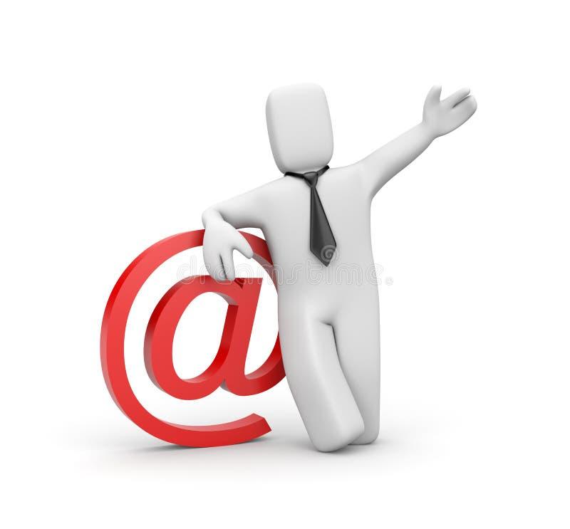 生意人电子邮件符号 库存例证