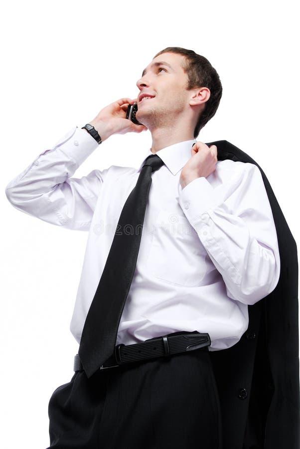 生意人电话联系 免版税库存图片