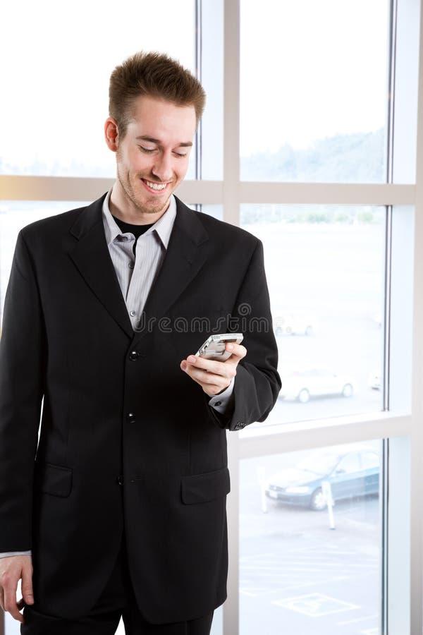 生意人白种人愉快 免版税库存照片