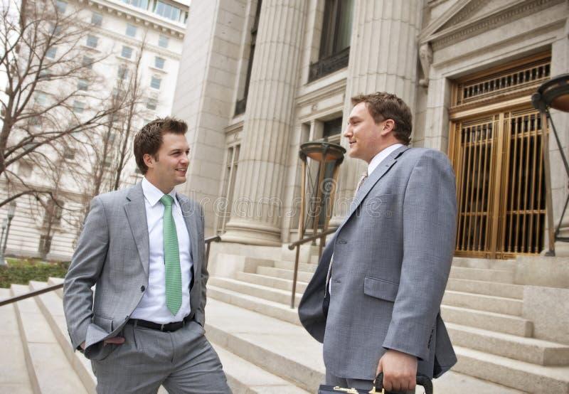 生意人确信律师微笑 图库摄影